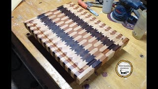 Woodworking : DIY End Grain Cutting Board Design // How-To Part 1