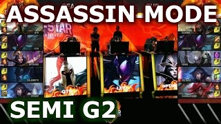 turkey vs sea game 2 assassin mode   semi finals 2016 lol iwc all stars day 4   fire vs ice