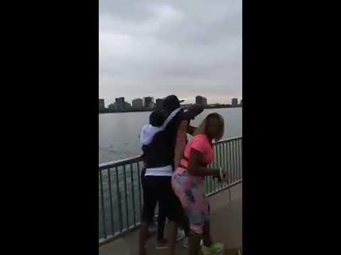 Fight Breaks out on Riverwalk in Downtown Detroit