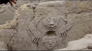 Hallan en Perú el mural de un 'sapo humanizado' del 3.800 a.C.
