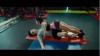 Tập gym với gái xinh mông to phê