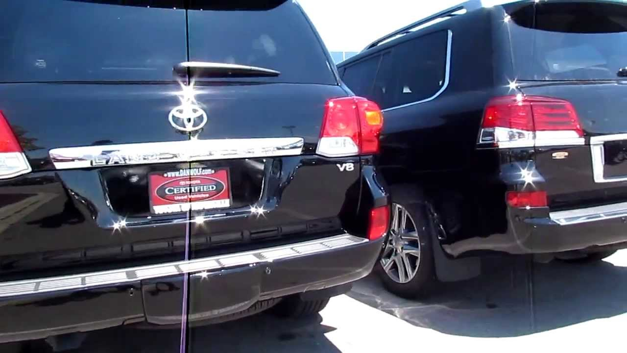 Lexus Lx 570 >> 2013 Toyota Land Cruiser vs 2013 Lexus LX 570 Exterior comparsion - YouTube