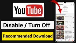 Recommended Download Ko Kaise Hataye | How To Delete Recommended Download Video From YouTube