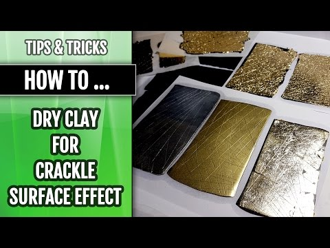 Tips & Tricks | How to prepare dried polymer clay layer for crackle surface effect!
