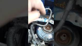 nissan note 2006 spring shock absorber strut swap windscreen scuttle refitment and overview