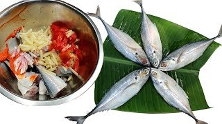 Steamed Kokila Fish Paturi in Banana Leaf My Mother Special Recipe | Cooking Amazing Sea Fish