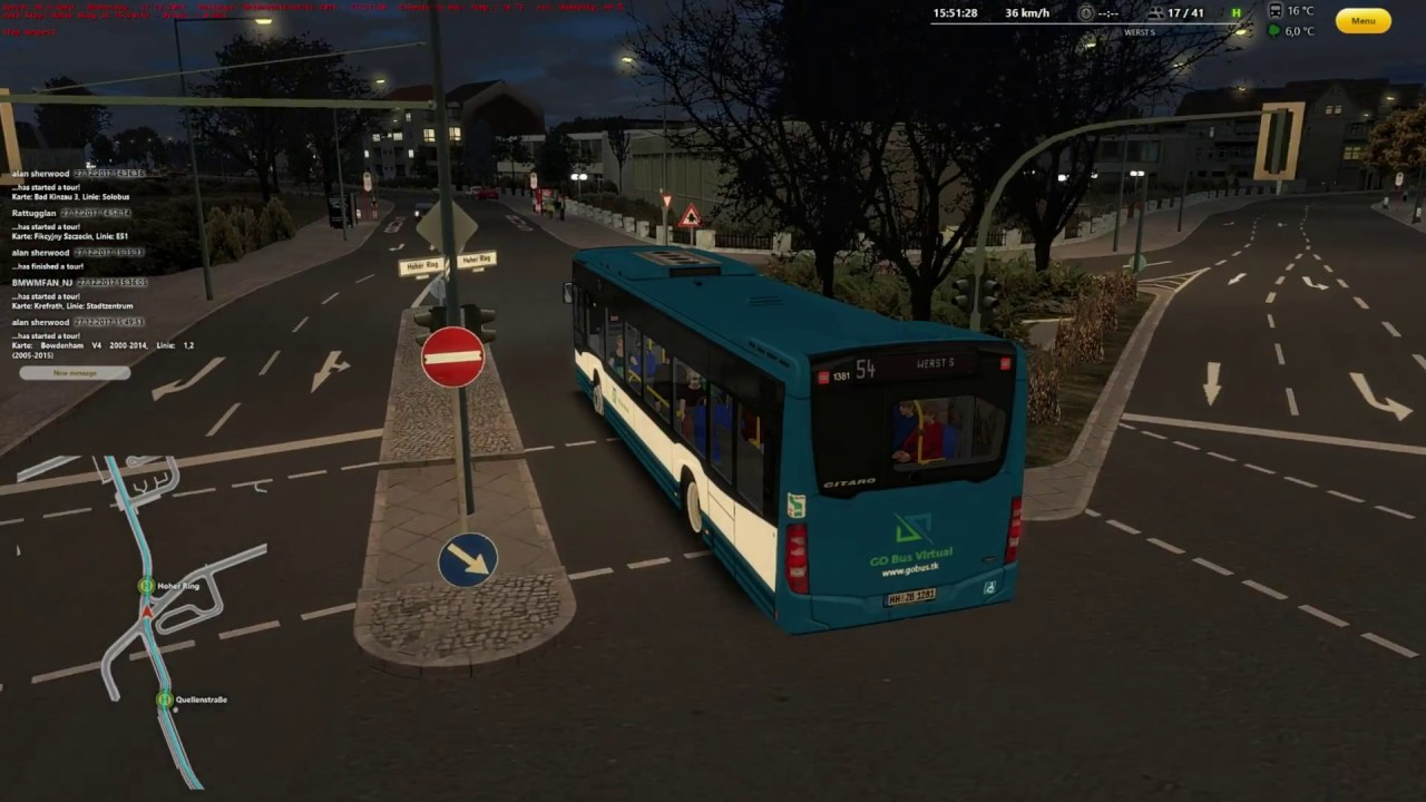 virtual bus linie