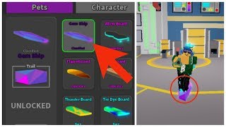 Rarest Hoverboard In Ghost Simulator! Gem Ship Hoverboard. Roblox.