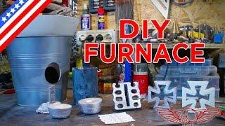 DIY Metal Foundry Project Tutorial - How to make a homemade foundry - ep 31 p1 - Roma Custom Bike