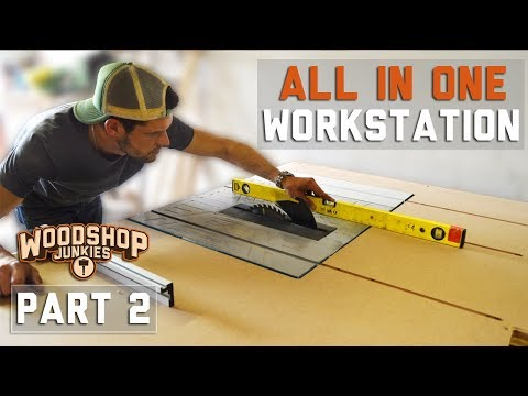 Perfectly flush top table saw outfeed table - ALL-IN-ONE workbench - PART 2