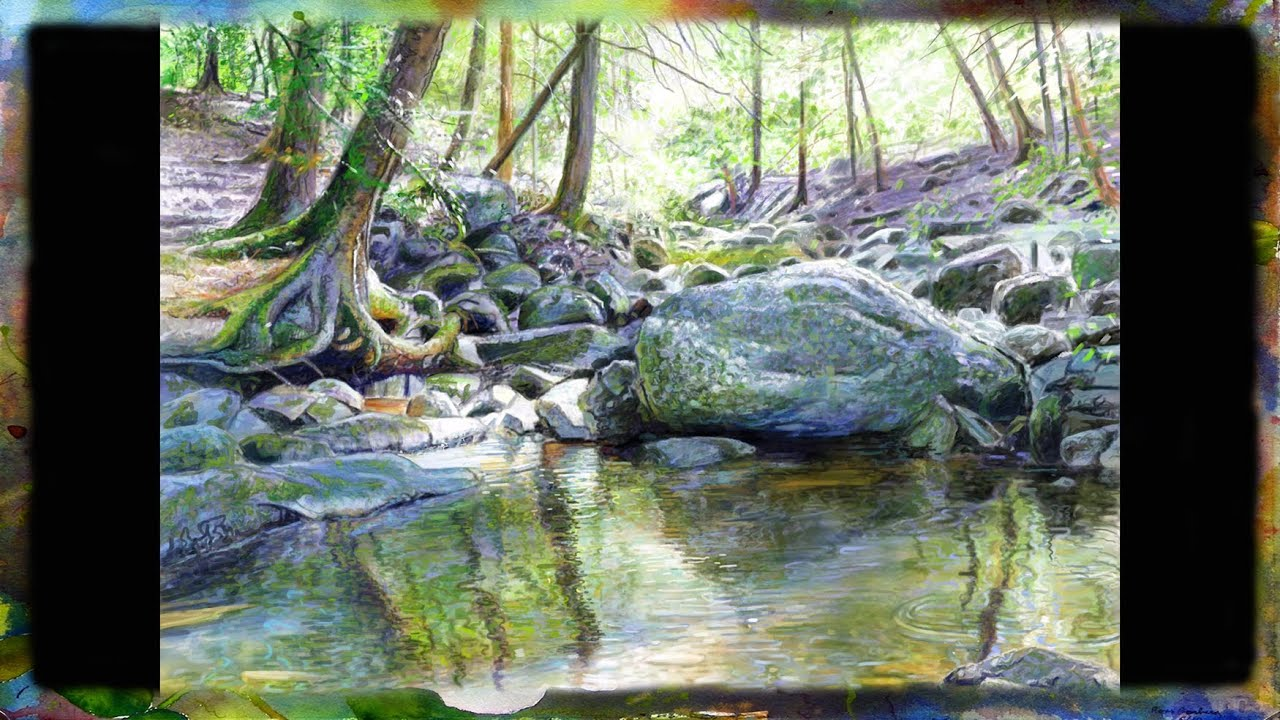 Virtual Landscaping Upload Picture : Digital landscape painting demonstration on an ipad by ross barbera