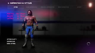 WWE 2K18 KLEIDUNG BEARBEITEN AJ STYLES