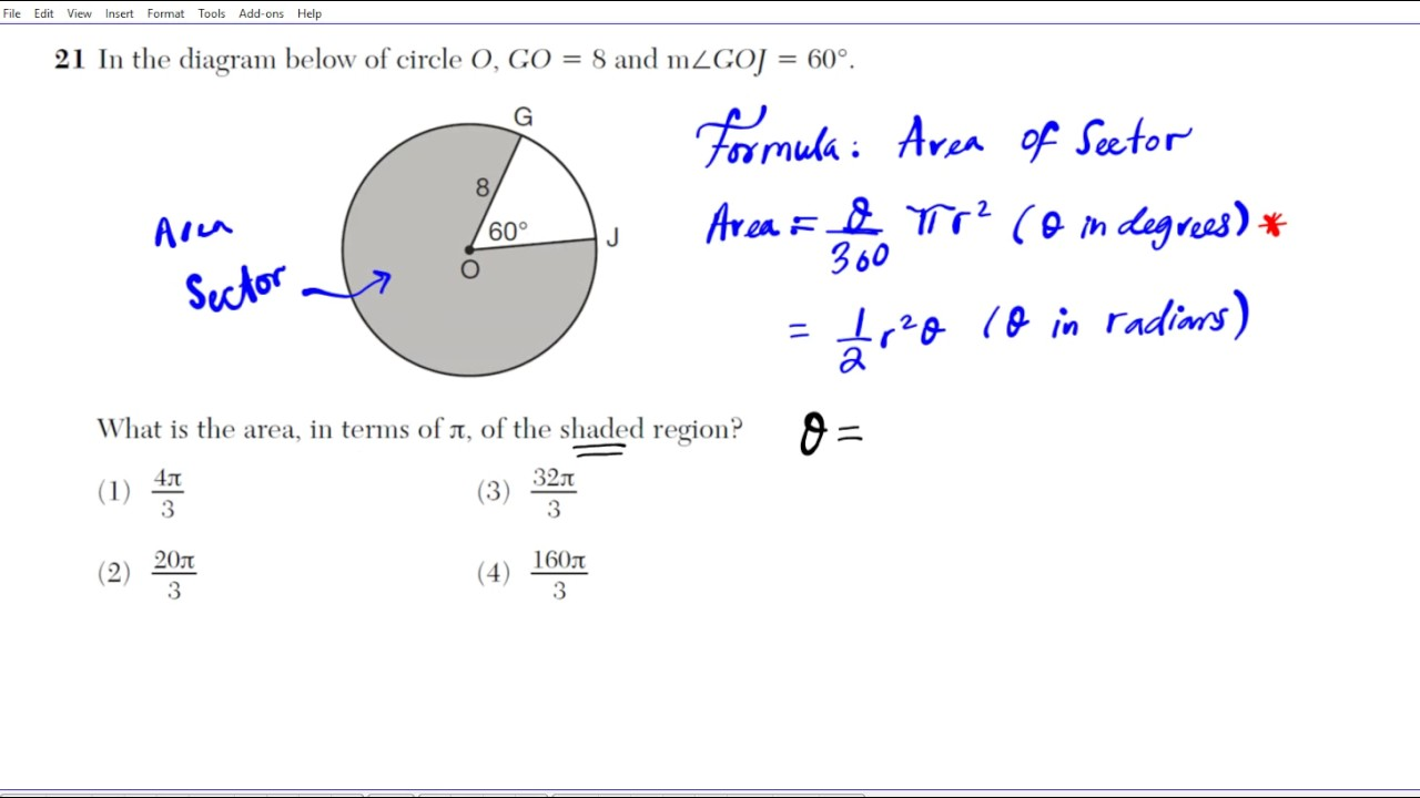 How To Calculate The Area Of A Sector Geometrymon Core