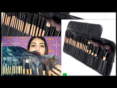 Most affordable makeup brushes set for beginners/Amazon shopping review india/24 brushes set in best
