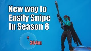 New Way To Easily Hit Every Snipe In Season 8 Fortnite (Fortnite Scrim Tips)(Fortnite creative tips)