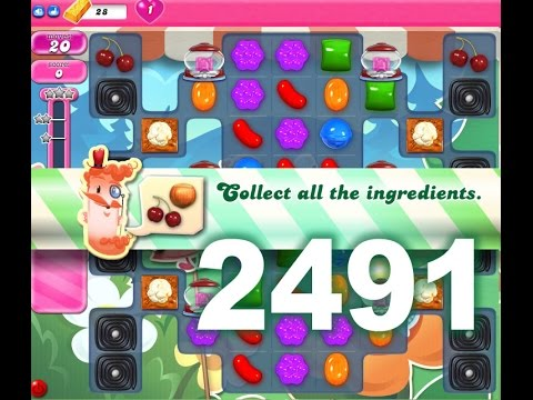 Candy Crush Saga Level 2491 (3 stars, No boosters)