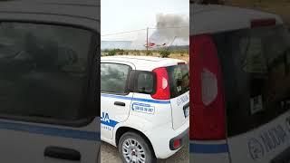Incendio tra Cassano e Altamura