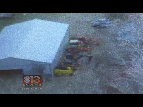 Police Use Drone To Locate Stolen Construction Machinery