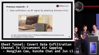 #HITB2018AMS D1T1 - Covert Data Exfiltration Channel - Hongjian Cao,  Kunzhe Chai & Jun Li