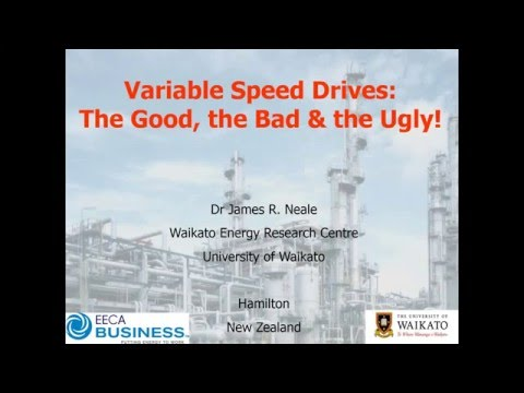 Webinar: Variable Speed Drives: The good, the bad and the ugly