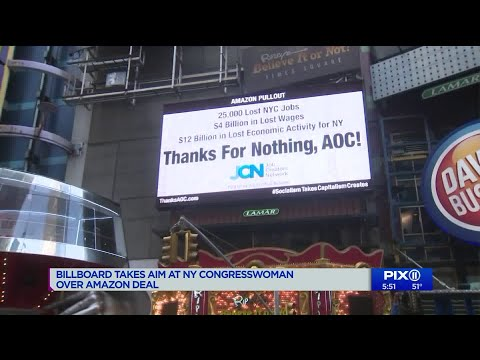 Billboard takes aim at NY Rep. Alexandria Ocasio-Cortez over Amazon deal