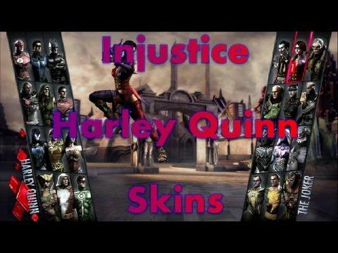 INJUSTICE | HARLEY QUINN ARKHAM CITY & INSURGANCY SKINS/COSTUMES | FULL HD