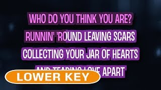Jar Of Hearts (Karaoke Lower Key) - Christina Perri