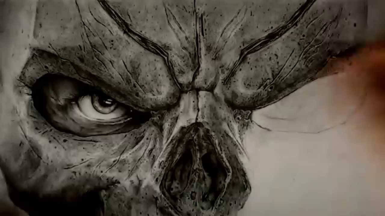 Dibujo Darksiders 2 Mascara De Muerte Hd Youtube