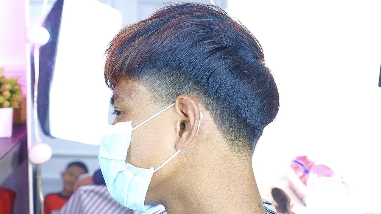 POTONG RAMBUT TEMPLE TAPER KOREAN HAIR STYLE