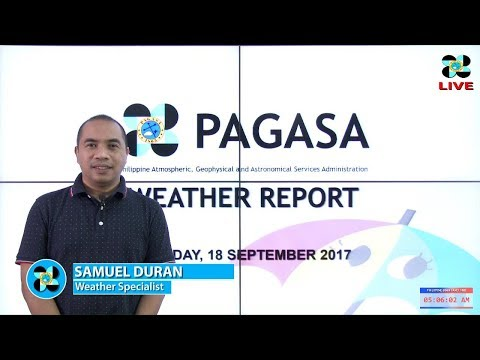 Public Weather Forecast Issued at 4:00 AM September 18, 2017