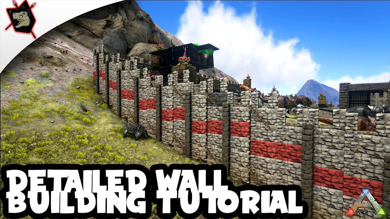 Ark Survival Evolved 65 Detailed Wall Tutorial Building Tips