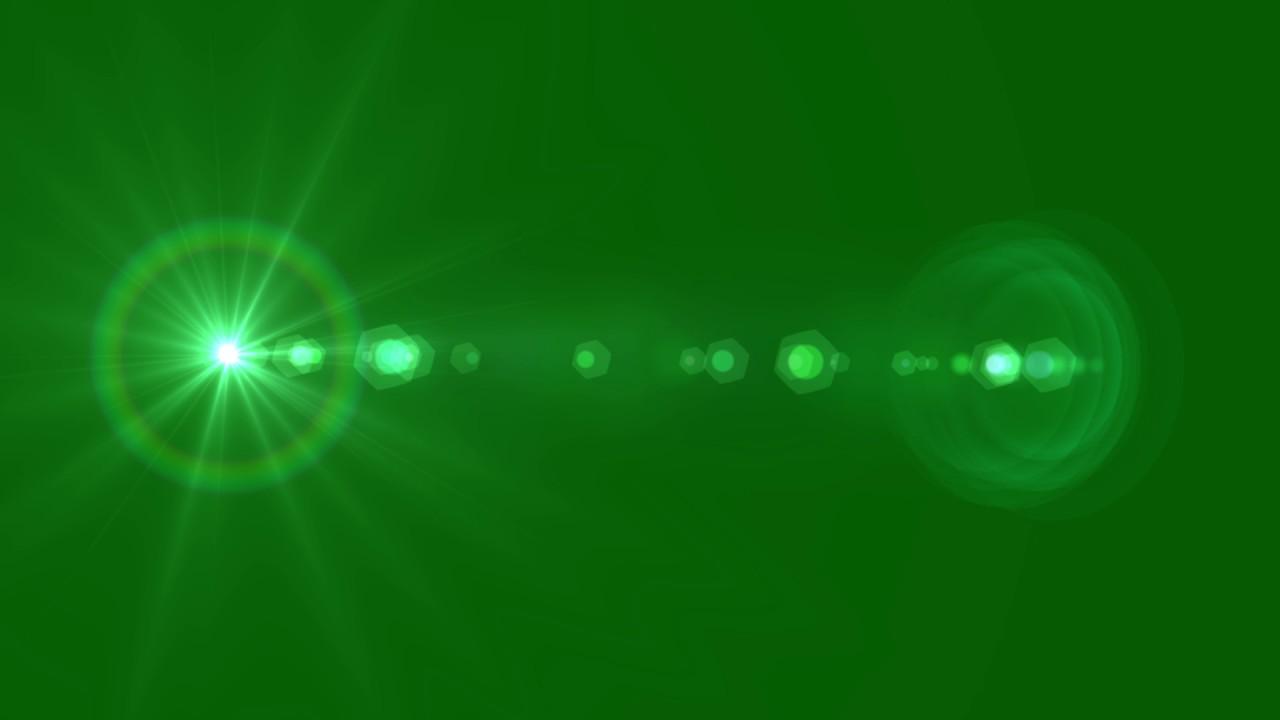 Lens Flare Green Screen