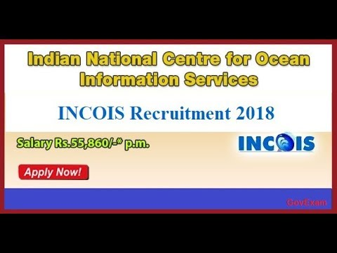 INCOIS Recruitment 2018