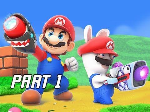 Mario + Rabbids Kingdom Battle Walkthrough Part 1 - Ancient Garden (Switch Let's Play Commentary)
