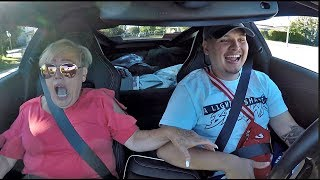 GRANDMA REACTS TO CORVETTE Z06 LAUNCH! *hilarious*