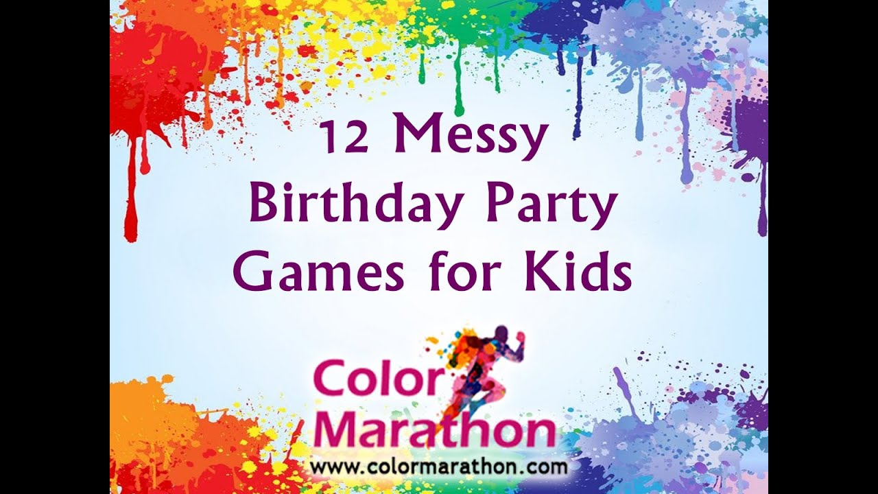 12 Messy Birthday Party Games For Kids