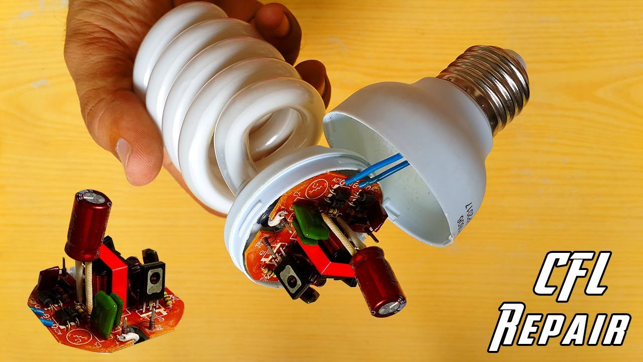 how to repair cfl bulb at home repair compact fluorescent light bulbs diy cfl repair [ 1280 x 720 Pixel ]