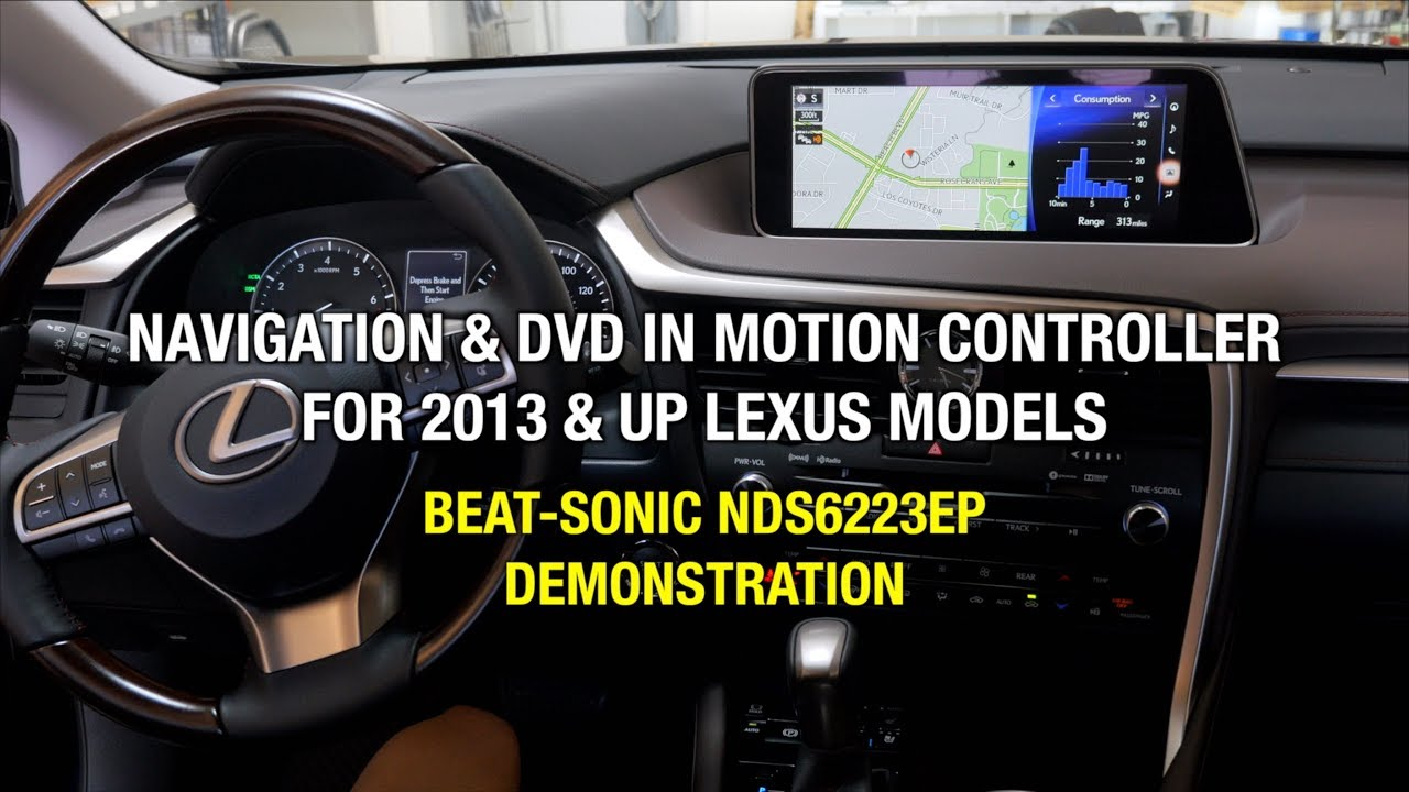LEXUS RX Navigation and DVD Control Bypass Demonstration Beat-Sonic