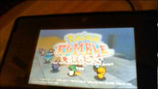 Game | How to delete a Pokemon Rumble Blast save file on the 3DS!! | How to delete a Pokemon Rumble Blast save file on the 3DS!!