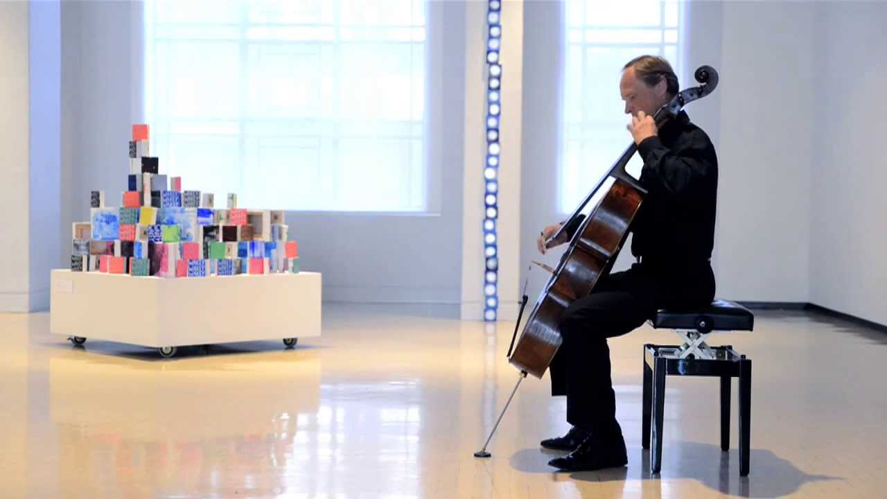 NZSQ's Rolf Gjelsten performs Sarabande, Bach Cello Suite no.2 in D Minor