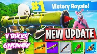 NEW GUIDED MISSILE LAUNCHER! FORTNITE VBUCKS GIVEAWAY (MAD WINS TODAY)