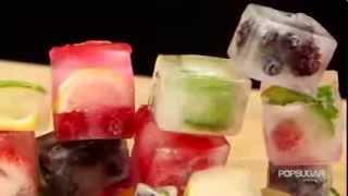 Как красиво оформить холодные напитки (ледяные кубики)