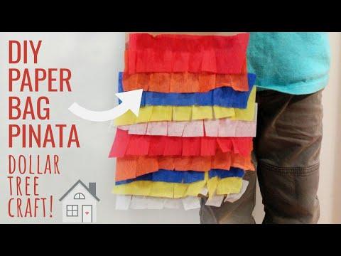 TUTORIAL: DIY Paper Bag Pinata | How to make a Pinata | Cinco De Mayo Craft | Dollar Tree DIY