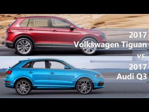 2017 Volkswagen Tiguan vs 2017 Audi Q3 (technical comparison)