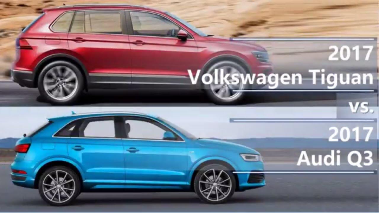 volkswagen tiguan   audi  technical comparison youtube