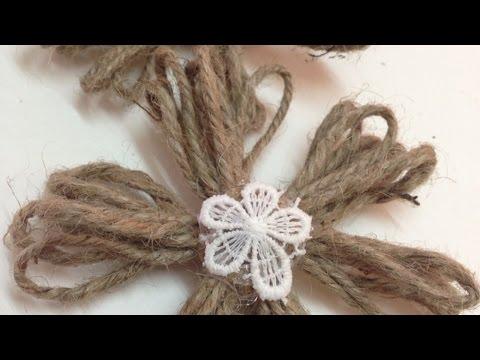 Make Simple Twine Flowers - DIY Crafts - Guidecentral