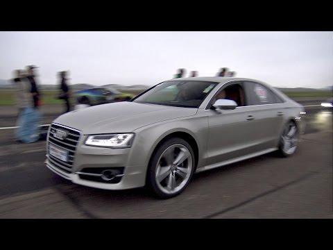 2017 Audi S8 720 HP 4.0 TFSI Drag Races Supercars on Track!