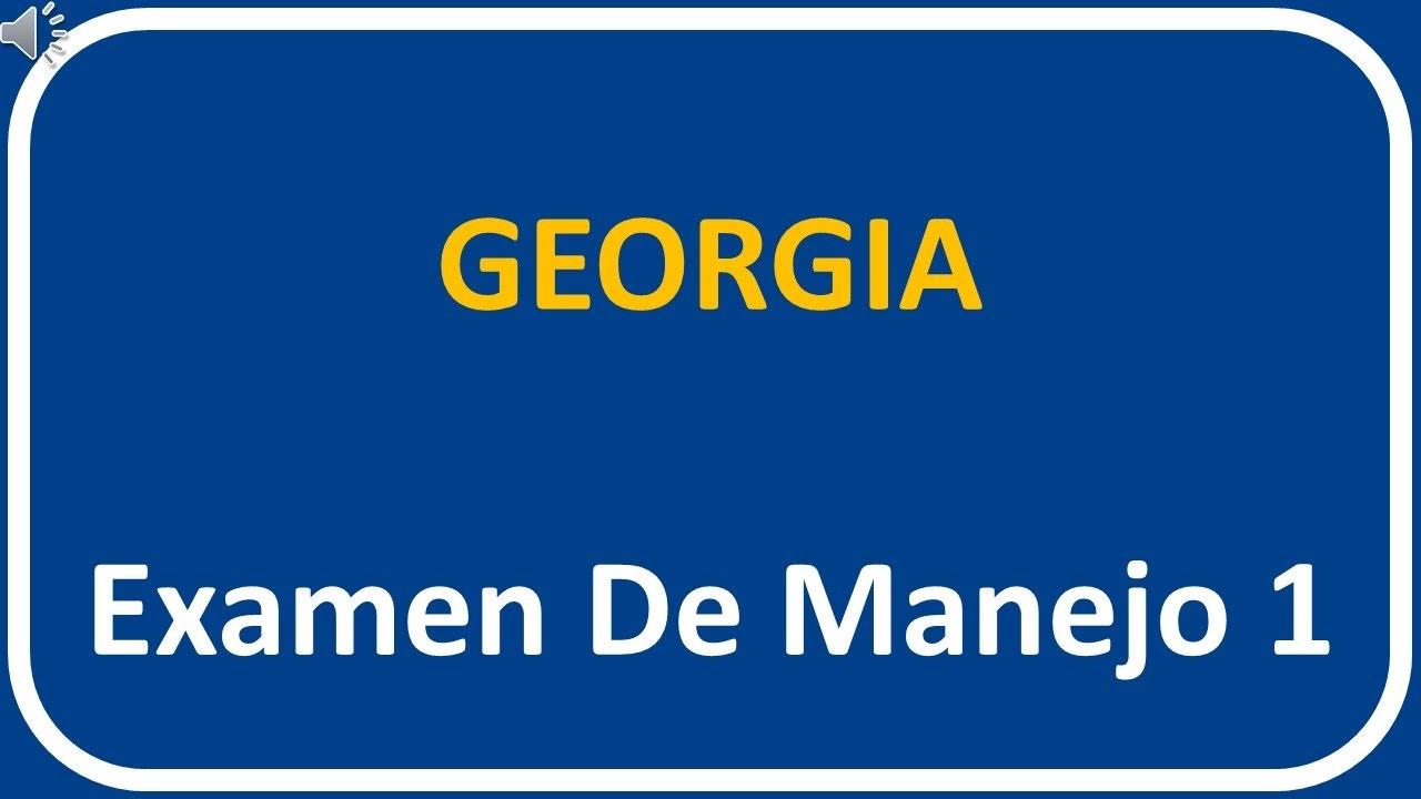 Examen De Manejo De Georgia 1 #1