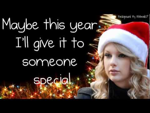 Taylor Swift Last Christmas Lyrics - YouTube