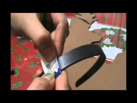 Como hacer diadema o balaca con cachos de reno youtube - Material para hacer diademas ...